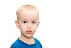 Ritratto di un ragazzo triste Immagini Stock Libere da Diritti
