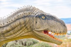 Ritratto di un T-Rex Macro foto immagine stock libera da diritti