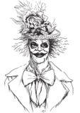 Ritratto di un undead 11 royalty illustrazione gratis