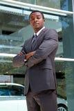 Ritratto di un uomo africano di affari Fotografie Stock Libere da Diritti