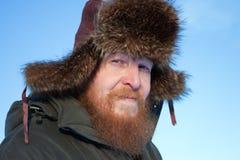 Ritratto di un uomo barbuto. Immagini Stock Libere da Diritti