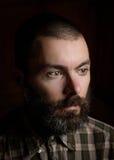 Ritratto di un uomo barbuto Fotografia Stock Libera da Diritti
