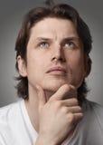Ritratto di un uomo bello pensive Immagine Stock Libera da Diritti