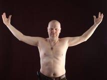 Ritratto di un uomo calvo Fotografia Stock Libera da Diritti