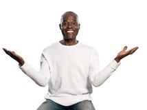 Ritratto di un uomo con un'espressione stupita Immagini Stock Libere da Diritti