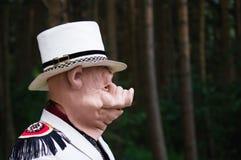 Ritratto di un uomo con una maschera di un maiale Fotografia Stock Libera da Diritti