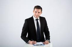 Ritratto di un uomo d'affari Immagini Stock