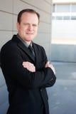 Ritratto di un uomo d'affari astuto Fotografia Stock Libera da Diritti