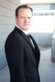 Ritratto di un uomo d'affari astuto Fotografie Stock Libere da Diritti