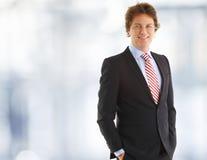 Ritratto di un sorridere dell'uomo d'affari Fotografia Stock