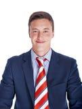 Ritratto di un uomo d'affari felice Fotografia Stock Libera da Diritti