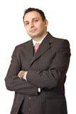 Ritratto di un uomo d'affari indiano Fotografia Stock