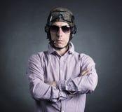 Ritratto di un uomo d'affari pilota Fotografia Stock Libera da Diritti