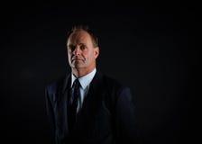 Ritratto di un uomo d'affari serio di Medio Evo fotografia stock