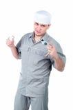 Ritratto di un uomo del pronto soccorso - erba medica, medico Fotografia Stock
