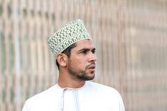 Ritratto di un uomo dell'Oman in un vestito dell'Oman tradizionale Nizwa, Oman - 15/OCT/2016 Fotografia Stock Libera da Diritti