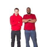 Ritratto di un uomo e di suo figlio teenager Fotografia Stock Libera da Diritti