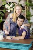 Ritratto di un uomo e di una donna incinta Immagine Stock Libera da Diritti