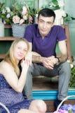 Ritratto di un uomo e di una donna incinta Fotografie Stock