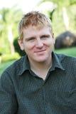 Ritratto di un uomo felice Fotografie Stock Libere da Diritti