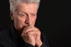 Ritratto di un uomo maggiore triste Fotografia Stock