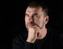 Ritratto di un uomo maturo fotografia stock libera da diritti