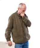 Ritratto di un uomo premuroso senior Fotografia Stock