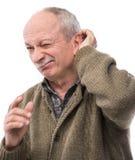 Ritratto di un uomo premuroso senior Fotografie Stock