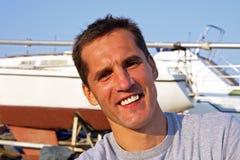 Ritratto di un uomo sorridente. Fotografia Stock