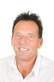Ritratto di un uomo sorridente invecchiato centrale Fotografie Stock Libere da Diritti