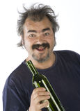 Ritratto di un uomo ubriaco Fotografia Stock Libera da Diritti