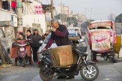 Ritratto di un venditore ambulante in via Immagine Stock