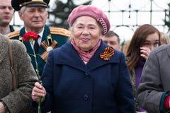 Ritratto di un veterano della donna della seconda guerra mondiale Fotografie Stock Libere da Diritti