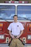 Ritratto di un vigile del fuoco Fotografie Stock Libere da Diritti