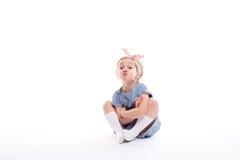 Ritratto di una bambina affascinante immagine stock libera da diritti