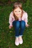 Ritratto di una bambina sveglia Fotografia Stock Libera da Diritti