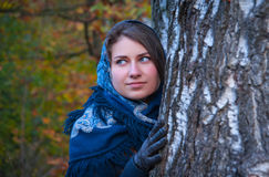 Ritratto di una bellezza russa fotografia stock libera da diritti