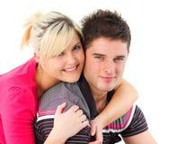 Ritratto di una coppia che si abbraccia Immagine Stock