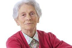 Ritratto di una donna anziana fotografia stock libera da diritti