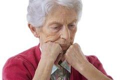 Ritratto di una donna anziana fotografie stock