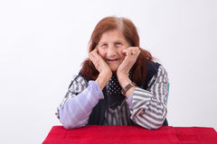 Ritratto di una donna anziana Immagine Stock Libera da Diritti