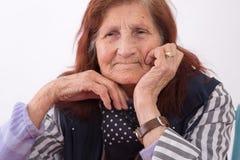 Ritratto di una donna anziana Immagine Stock