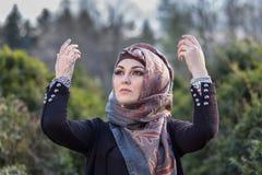 Ritratto di una donna araba Fotografia Stock