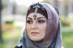 Ritratto di una donna araba Fotografie Stock