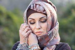 Ritratto di una donna araba Immagini Stock