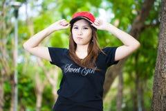 Ritratto di una donna asiatica attraente. Immagini Stock