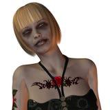 Ritratto di una donna bionda tatuata Fotografie Stock