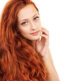 Ritratto di una donna con bei capelli immagine stock