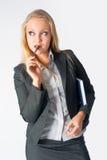 Ritratto di una donna di affari con l'organizzatore Fotografia Stock Libera da Diritti
