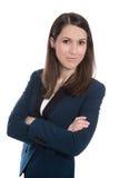 Ritratto di una donna di affari isolata graziosa. Immagine Stock